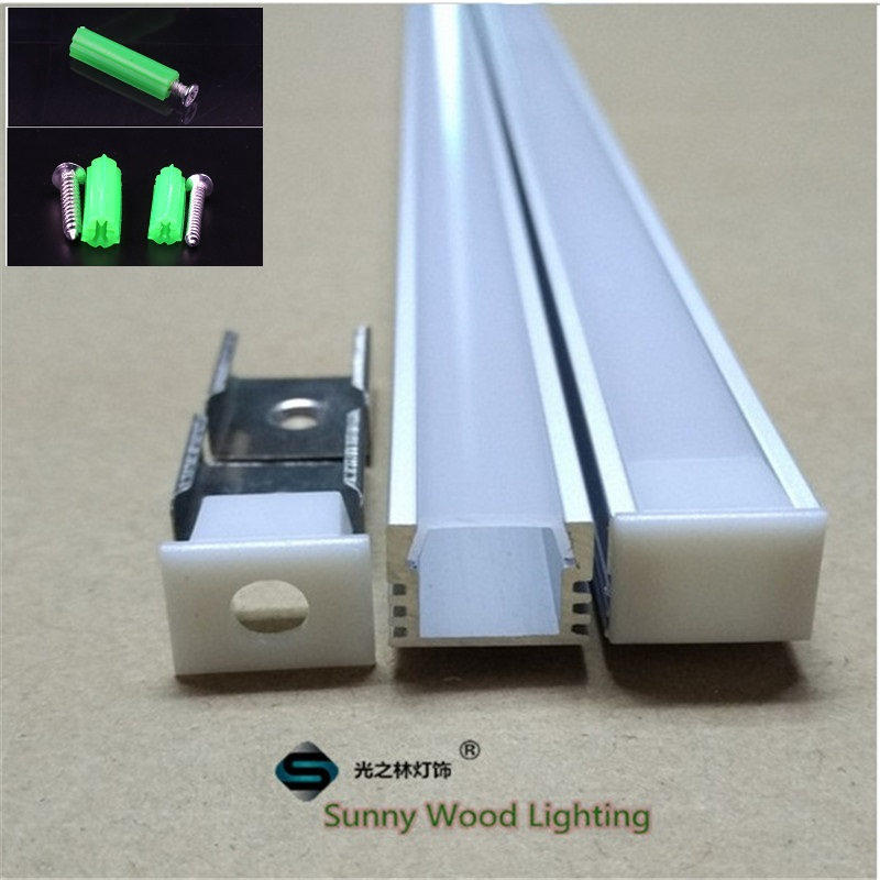 5-30pcs/lot, 40inch/pc, led aluminium profile for 8-11mm PCB board ,led channel with cover and fittings, strip housing aluminium sample box with different size and shape recessed aluminium profile for led strip l shape corner stair with end caps