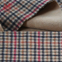 High Grade Ply Wool Fabric European Style Thick Fabric With Check Patten For Coat Dress With