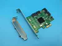 High Quality 4 Ports Internal PCI Express SATA 3 0 6Gb S Expansion Card 88SE9215 Chipset