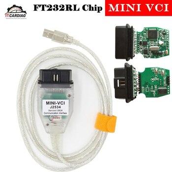 MINI VCI Interface FOR TOYOTA TIS Techstream MINIVCI FT232RL Chip J2534 OBD2 Diagnostic Cable Supports TIS OEM Diagnostic SW фото