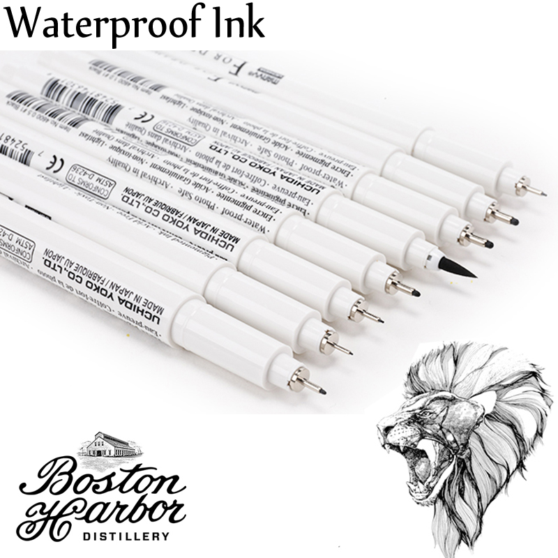 Japan MARVY Pigma Micron Liner Drawing Marker Pens Fine Tip Black Ink 003 005 01 03 05 08 1.0 Brush Sektch Art Markers Dessin алмазный брусок двусторонний extra fine fine hardcoat™ 1200 mesh 9 micron 600 mesh 25 micron dmt w8ef h wb