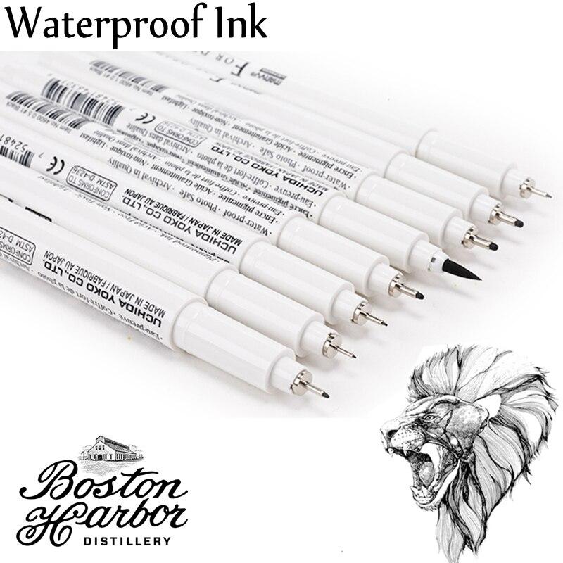 Japan MARVY Pigma Micron Liner Drawing Marker Pens Fine Tip Black Ink 003 005 01 03 05 08 1.0 Brush Sektch Art Markers Dessin
