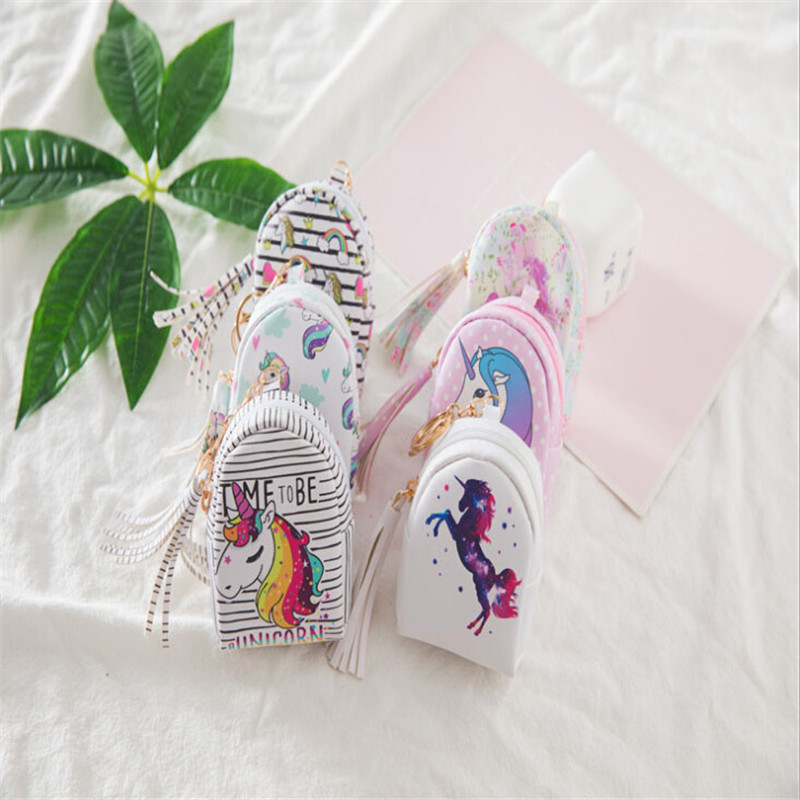 Luggage & Bags Coin Purses & Holders Hot Sale 1pc Fashion Cartoon Cute Unicorn Womens Coin Purse Key Pack Keychain Birthday Party Decorations Kids Baby Shower Gifts