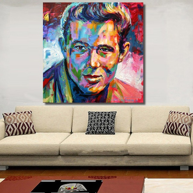 HDARTISAN James Dean Portrait Oil Painting Acrylic on Canvas Art ...