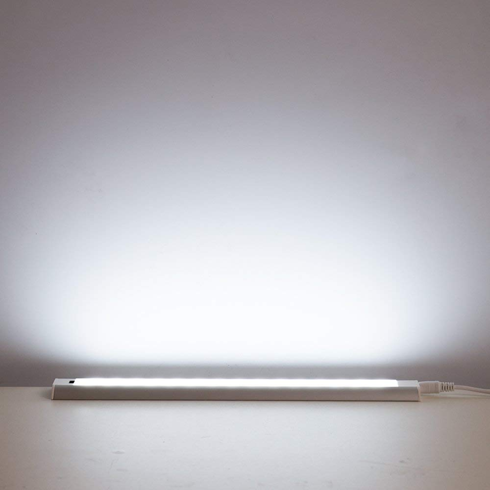 Led Under Cabinet Lighting Dimmable Hand Wave Activated Counter Plug In For Kitchen 5w 12 Inch Panel Daylight