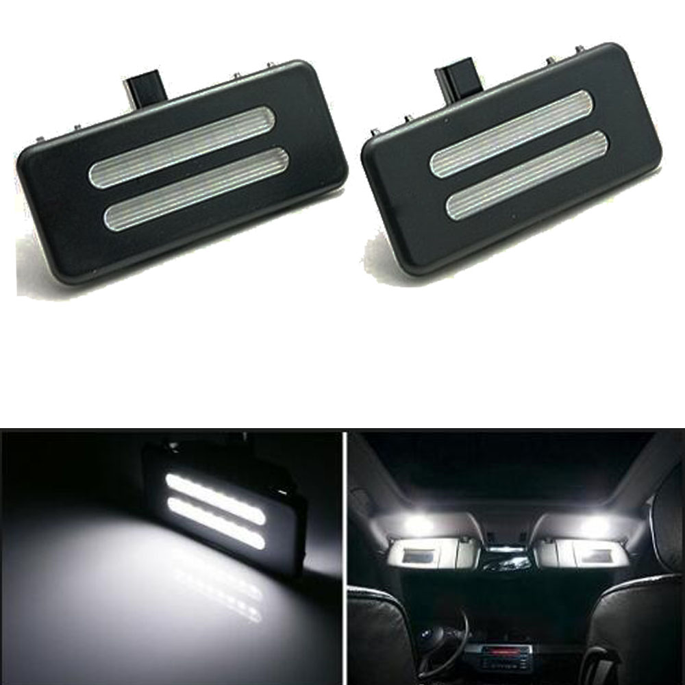2x free error led car vanity mirror light for e60 e90 e60n for Mirror 90 x 60