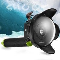 2018 Portable 4 Inch Diving Dome Port For Xiaomi Yi 1st 1080P Camera With Float Grip