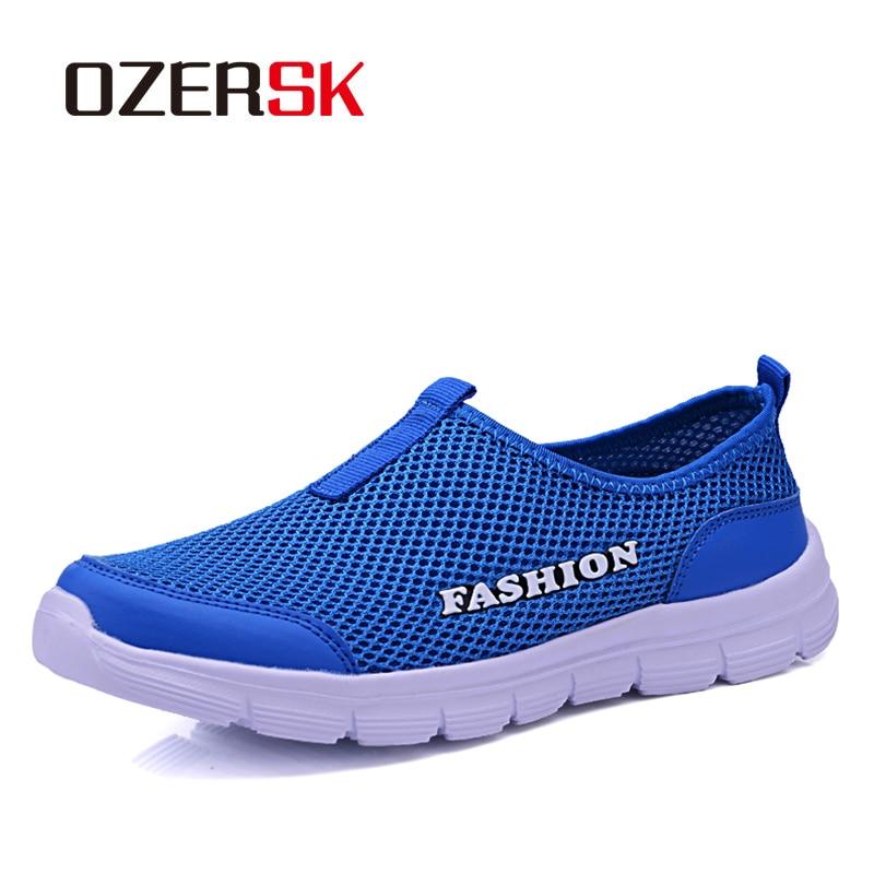 OZERSK Brand Shoes Men Sneakers Summer Trainers Shoes Zapatillas Deportivas Hombre Breathable Casual Shoes Woman Plus Size 34~46