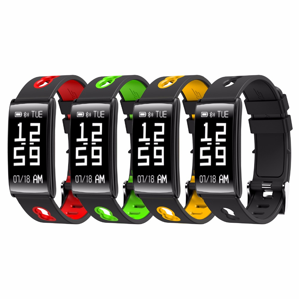 купить 2018 Smart Wristbands Fitness bracelet HM68 Heart Rate Tracker smart watch blood pressure oxygen monitor IP67 waterproof watch по цене 2456.75 рублей