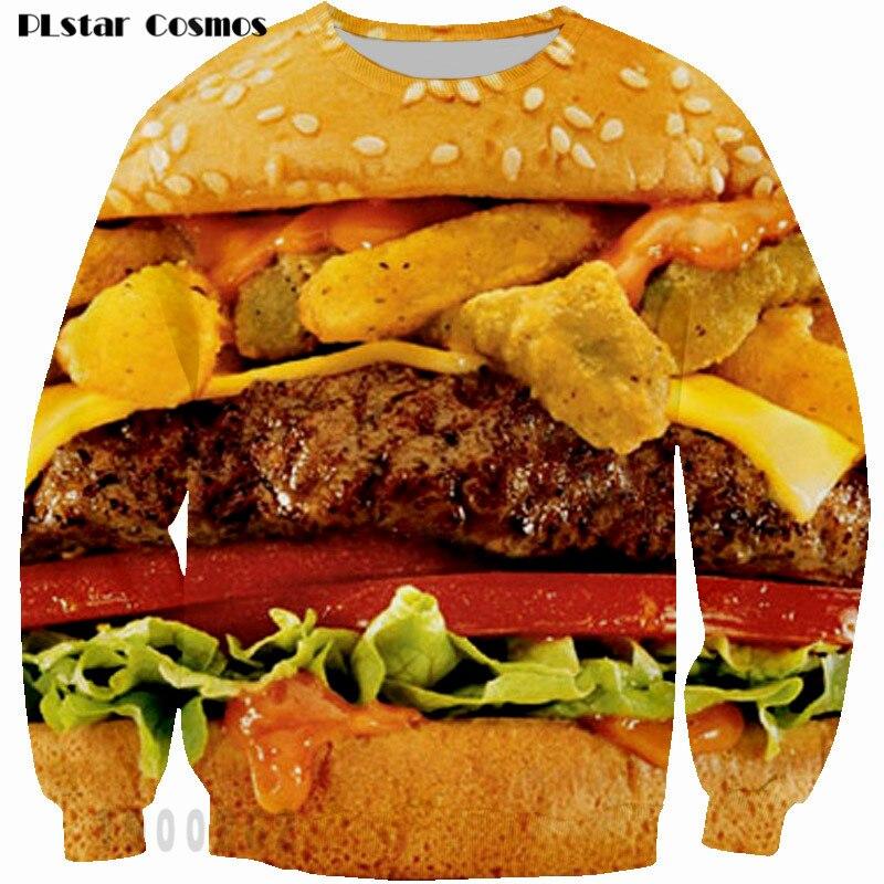 3D-s férfiak / nők pulóverek hamburgerek Nyomtat kapucnis - Férfi ruházat