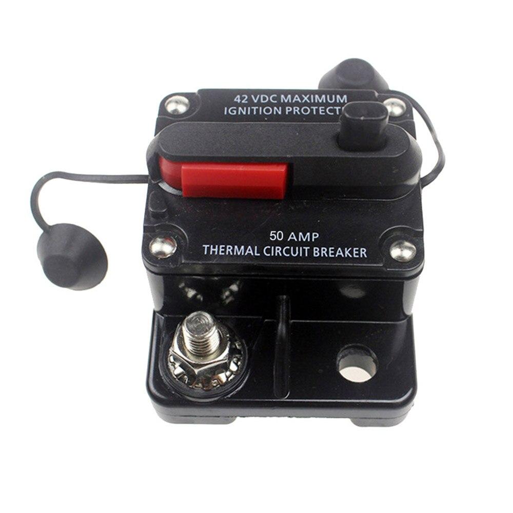 Car Audio 80a Circuit Breaker Amp Amplifier Auto Fuse Blow 80 Amp 12v 48v