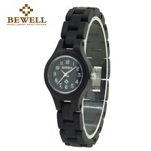 BEWELL Casual Black Wood Watches Women fashion watch 2016 Top Brand Luxury Small   Round Dial ladies watch Relogio Feminino 123A