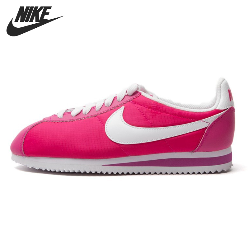 Original NIKE WMNS CLASSIC CORTEZ NYLON Women's Skateboarding Shoes Sneakers original nike classic cortez nylon men s skateboarding shoes 532487 sneakers free shipping