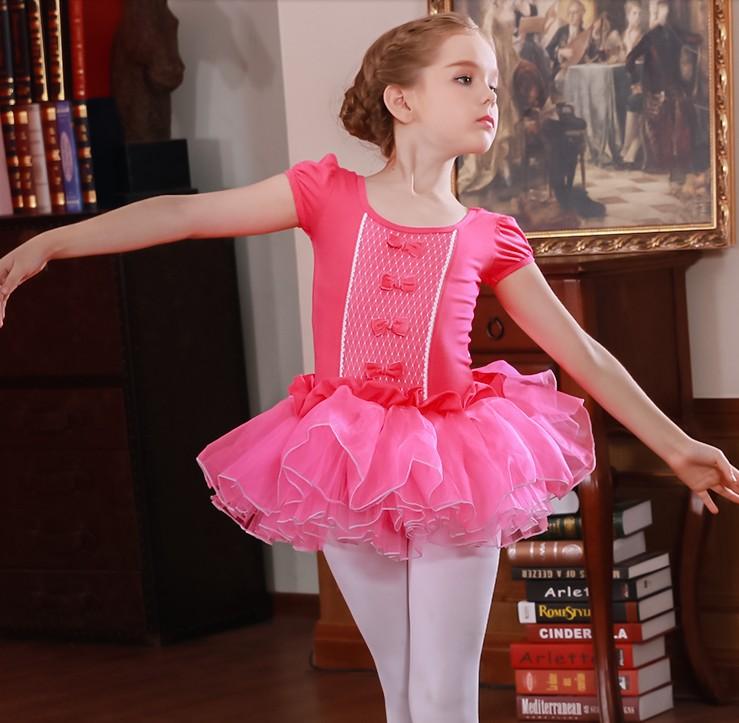 Short/Long Sleeved Swan Lake Ballet Dance Costume Ballerina Children Clothes Pink/Purple/Blue/Rose Cute Ballet Dress For Girls