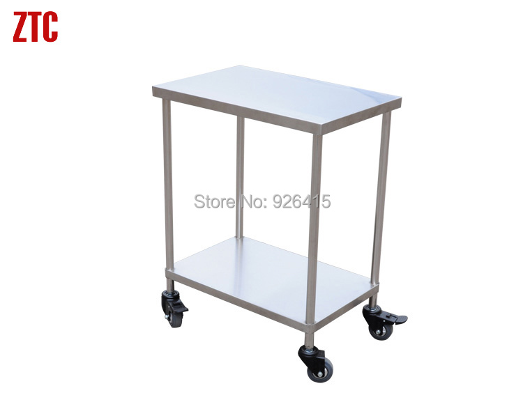 Us 1320 Hot Sale Double Shelves Instrument Trolley Cart4 Wheels Stainless Steel Hand Trolleylaboratory Sample Cartmedical Handcart In Laboratory