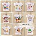 Розничная 3 шт./лот 10M-4years с коротким рукавом печати Футболка baby дети детская Одежда девушки парни Одежда Детская Одежда летом