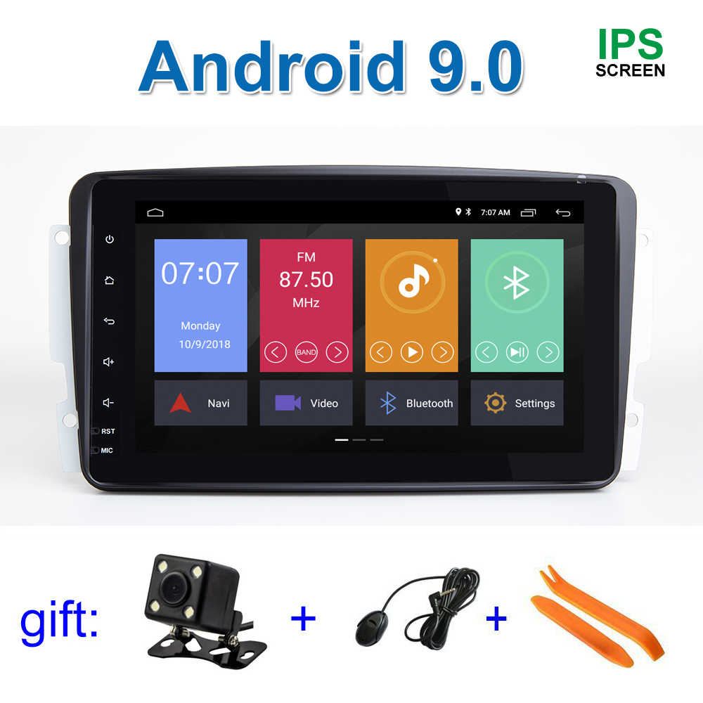 "8"" IPS DSP Android 9 Car DVD Stereo Multimedia Radio GPS for Mercedes/Benz/W209/W203/M/ML/W163/Viano/W639/Vito"