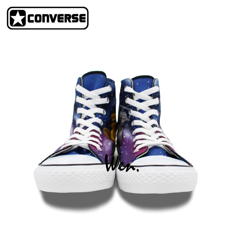 Design Men Women Converse Chuck Taylor Shoes Hand Painted Galaxy Police Box  Athletic High Top Canvas Sneakers Gifts Presents-in Skateboarding Shoes  from ... 80ae99c13