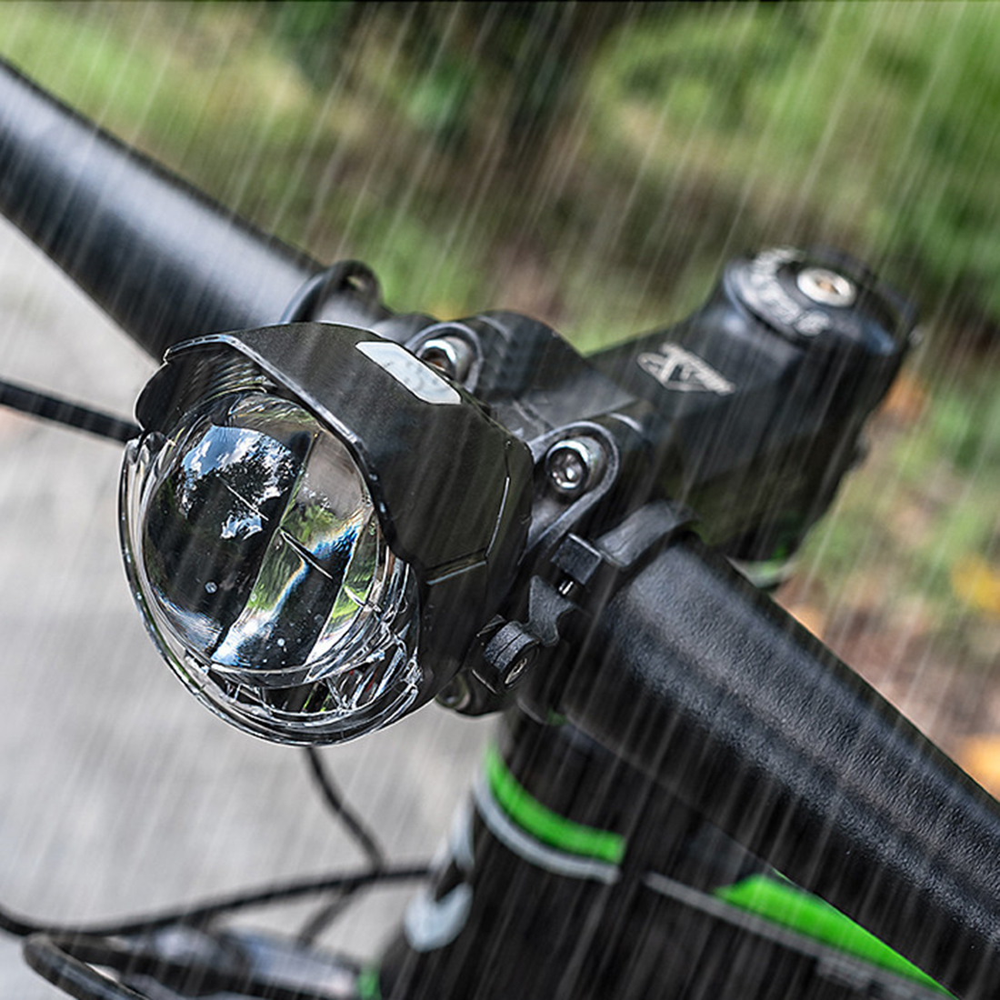 USB Rechargeable Bicycle Front Light Mini Dual T6 LED Night Cycling Head Torch K
