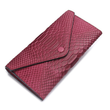 Brand Women Long Slim Phone Wallet Genuine Leather Alligator Pattern Female Clutch Purse Big Capacity Money Coin Pocket