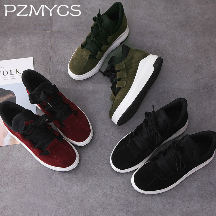 PZMYCS New Women Sneakers Fashion Spring Lace up Casual Shoes Comfortable Female Platform Shoes Lady Vulcanized Shoes
