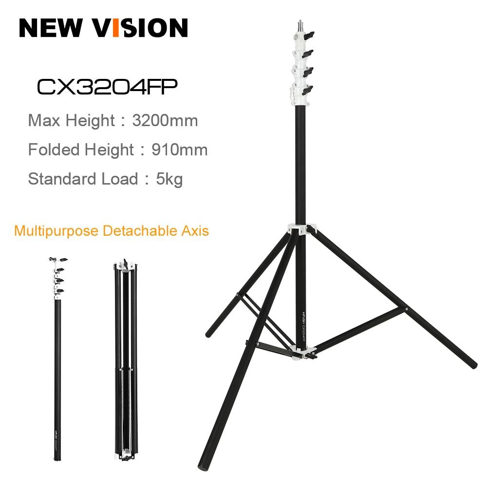 Free DHL 320cm 3 2m Four Section Heavy Duty Triple Riser Aluminum Kit Photo Lighting Lamp