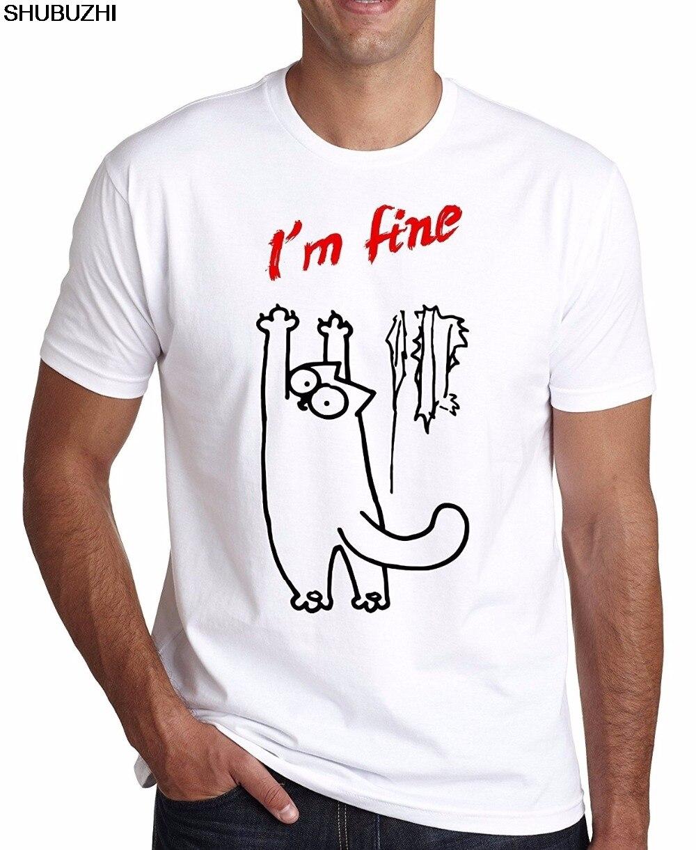 Gerade Custom T Shirts Online Premium Crew Neck Kurzarm Ich Bin Feine Simons Cat Herren Lustige T-shirt Herren T Shirts Sbz1280 Halsketten & Anhänger