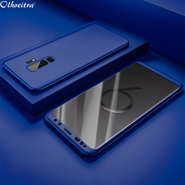 finest selection e070c 9a82a US $2.94 41% OFF|360 Degree For Samsung A8 2018 A8 Plus 2018 Case Phone  Housing With Tempered Soft Flim For Samsung Galaxy A8 2018 A8 Plus 2018-in  ...