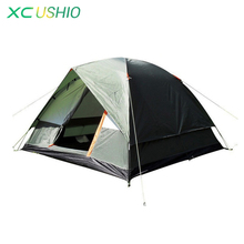 Three person 200 200 130cm Double layer weather resistant outdoor camping tent for fishing hunting adventure