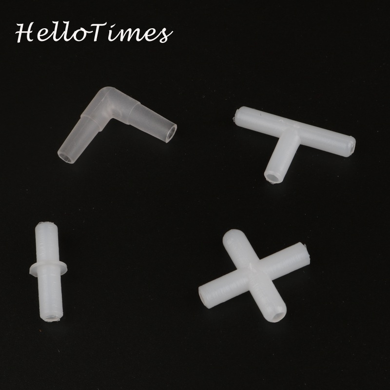 30pcs Plastic 4mm Tee Connector Aquarium Air Pump Line Tubing Joints Straight Connectors For Fish Tank Accessories Silicone Tube