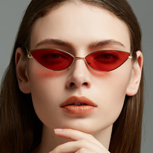 Cat Design Luxury Brand Eye Sunglasses Women 2018 Red Lens Small Oval Sun Glasses Shade for Vintage Fashion