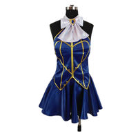 Anime Fairy Tail Cosplay Costume Lucy Heartfilia Backless Polyester Adult Women Halloween Carnival Show Party Dress