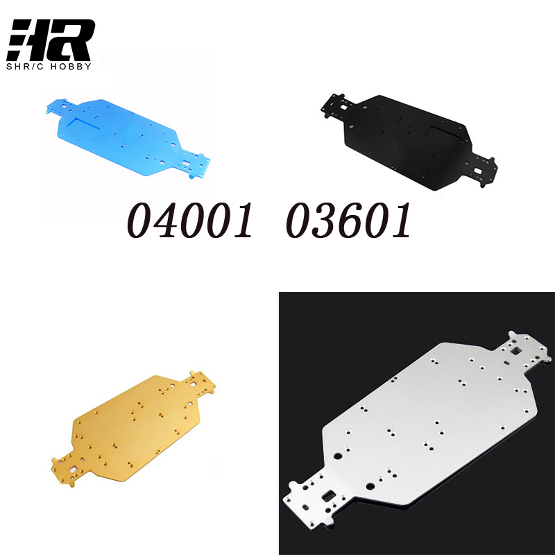 RC car 1/10HSP 04001 03601 Aluminum Alloy Metal Chassis Upgrade Parts For Buggy Monster Bigfoot Truck 94107 94170 94118 94111 1pcs durable off road truck black metal chassis 04001 03601 for hsp 1 10 rc model car upgrade spare parts