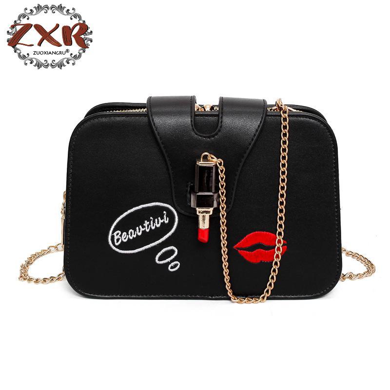 Brand Women Chains Cartoon Lipstick Decoration Flap Handbag Hot Sale Lady Cute Purse New Messenger Crossbody Shoulder Bags handbag