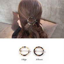 2017 New Fashion Newest Leopard Round Hair Accessories For Mature Women Hair Clips For Girls Headdress Hairpin Clamps Head(China)