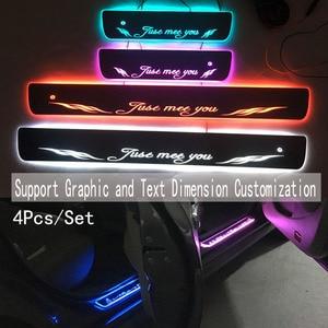 Image 3 - 4PCS/ישים כדי ix35 הזרמת צבע LED מנורת אדני דלת דוושה מוזמן/דינמי תאורת רכב סף עבור HYUNDAIIX35