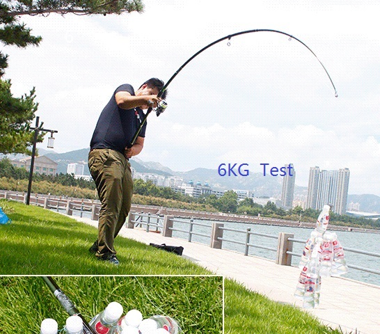 Albacore Super Hand Telescopic fishing rod 12 layer for boat drag fishing at the ocean or lake and river with double tip