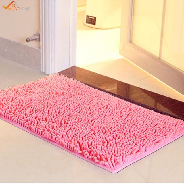 40*60CM Microfiber Chenille Bathroom Rugs Carpet Shag Non Slip ...