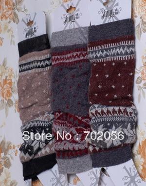 Womns ACRYLIC Leaf design Leg Warmers LEG Boot CORVER Sexy Socks 20 pairs/lot #2460