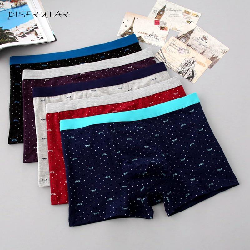 Plus Size Male Underwear 5 Pcs/lot Men Underwear Boxers Shorts Cotton Cuecas Boxer Men Solid Underpants Men Boxer XL-7XL