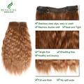 Peruvian Virgin Hair Clip In Human Hair Extensions 3#  Beau Diva Wet and Wavy Human Hair Clip In Extensions Peruvian Hair Weave
