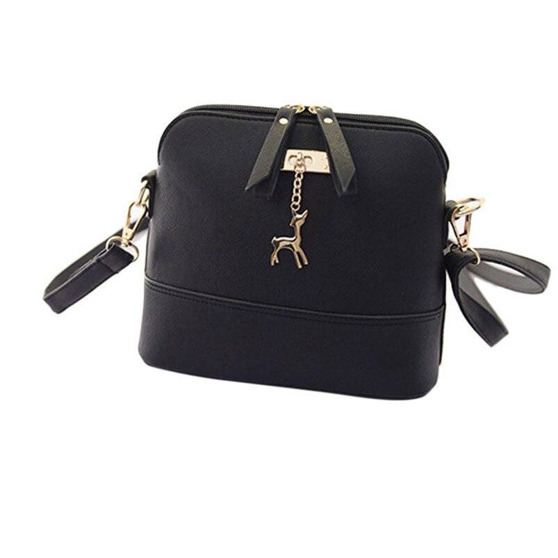 2017 Most Popular New Women Messenger Shoulder Bags Vintage Small Shell Leather Handbag Casual Bag Female High Grade Bags A8