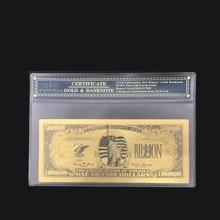 Уникальная цветная Золотая банкнота США один миллион 999 Чистая Золотая фольга бумага деньги Золото Банкнота с COA рамкой для коллекции
