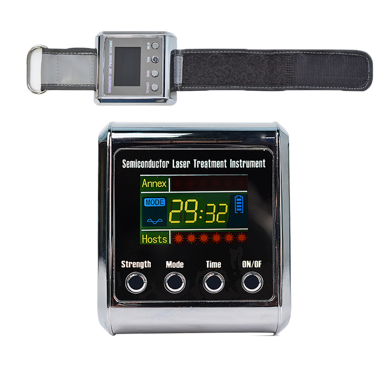 Digital Laser Physiotherapy Device LLLT for Rhinitis Diabetes Cholesterol Hypertension Cerebral Thrombosis Treatment 650nm Diode diode 650nm laser lllt physiotherapy therapy watch for diabetes cholesterol hypertension cerebral thrombosis rhinitis treatment