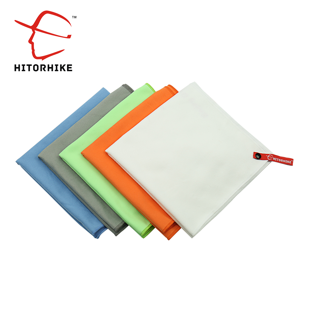 Hitorhiek 81x39cm Microfiber Fast Drying compact Light weight Travel Sport Camping Swim Towel Bath Sheet With Carry Bag outdoors