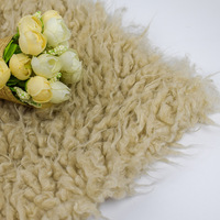 Rice camel wool curly beach wool fabric artificial wool material
