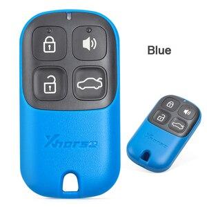 Image 4 - KEYECU XHORSE (גרסה אנגלית) ססגוניות 4 כפתור אוניברסלי מרחוק מפתח Fob עבור VVDI מפתח כלי VVDI2 צהוב/Blu/שחור