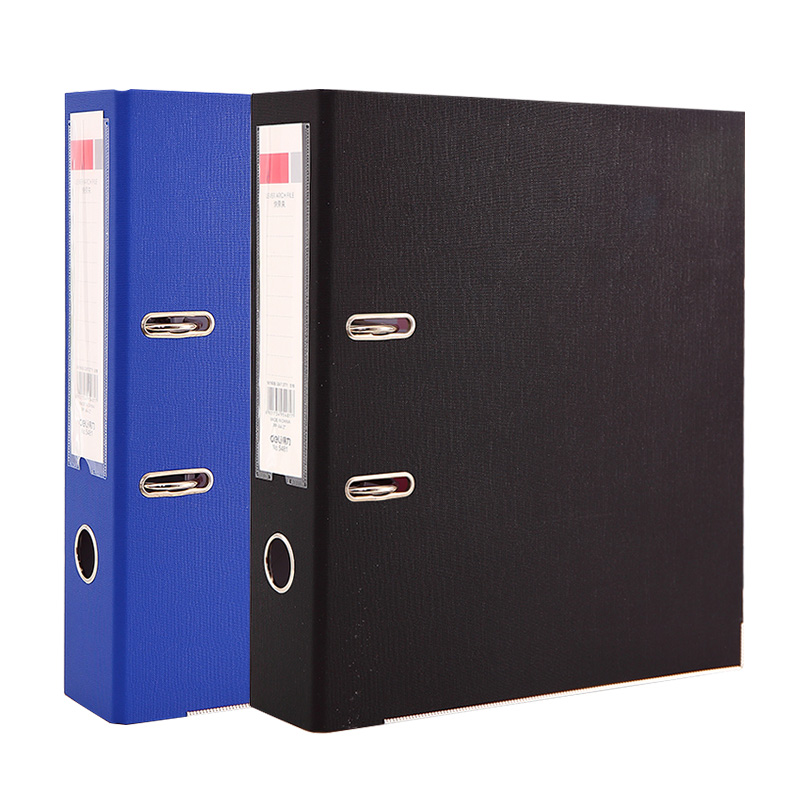 Black 215*310*55mm PVC A4 Lever Arch File Filling Products Office Supply Documents Holder