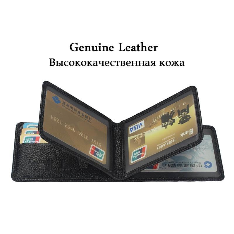 Marca Zuoerdanni Titular de la licencia de conductor de cuero genuino Documentos del conductor Estuche de la tarjeta de crédito Estuche de la tarjeta de identificación 4 pliegues A216