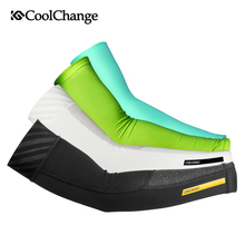 CoolChange Ice Fabric Cycling Arm Warmers Summer Sports MTB Bike Arm Sleeve UV Protection Running Basketball Bicycle Arm Sleeves цены онлайн